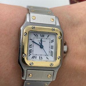Cartier Santos Ladies Watch Stainless Steel/18Kt G